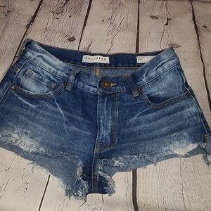 ☆Bullhead☆ Slouchy Shorts Distressed Denim